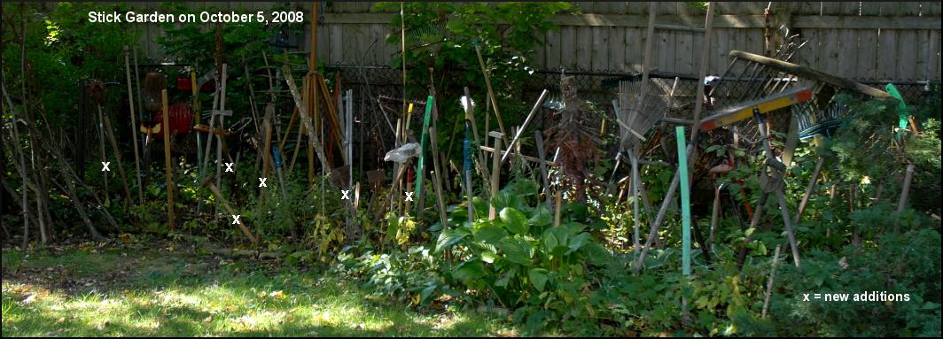The Stick Garden On October 5, 2008.